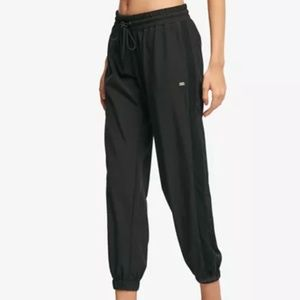 NWT DKNY Black Mesh Panel Jogger Pants